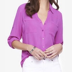 Express Portofino Shirt in Orchid